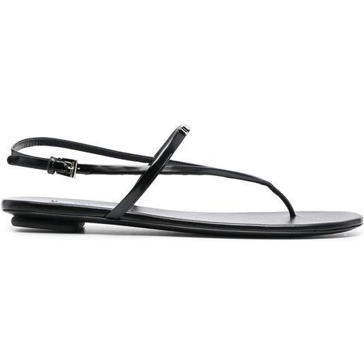 Prada sandali con applicazione - nero