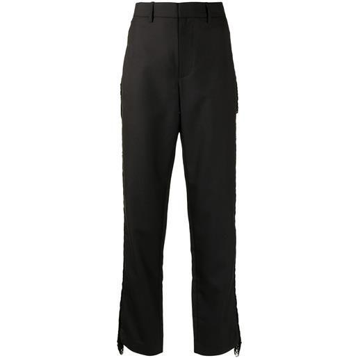Dion Lee pantaloni con dettaglio a frange - nero