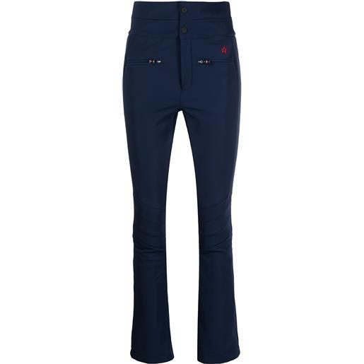 Perfect Moment pantaloni svasati a vita alta aurora - blu