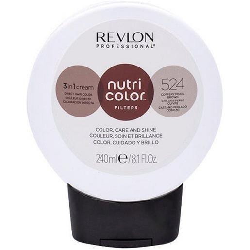 Revlon professional nutri color filters 524 - castano perlato ramato 240 ml / 8.10 fl. Oz