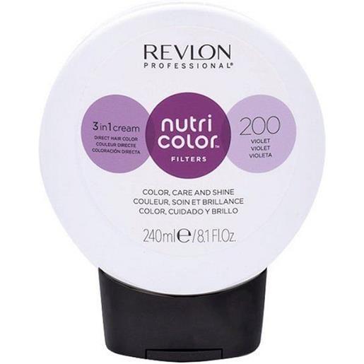 Revlon professional nutri color filters 200 - viola 240 ml / 8.10 fl. Oz