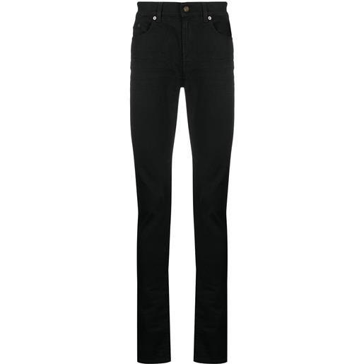 Saint Laurent jeans slim con cinque tasche - nero