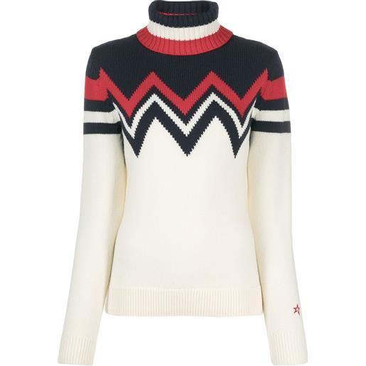 Perfect Moment maglione a collo alto alpine - bianco