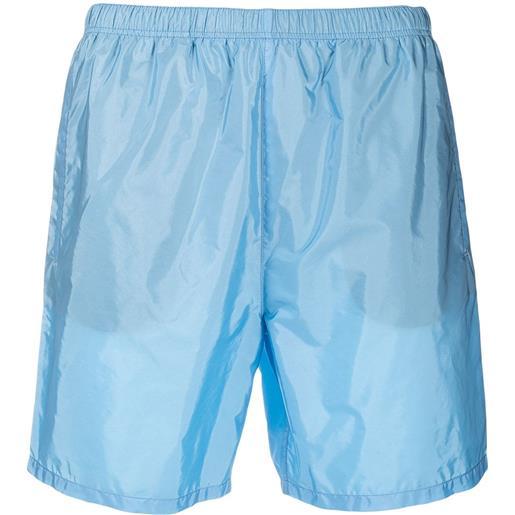 Prada costume da bagno con vita elasticizzata - blu