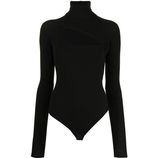 ALIX NYC body con maniche lunghe - nero
