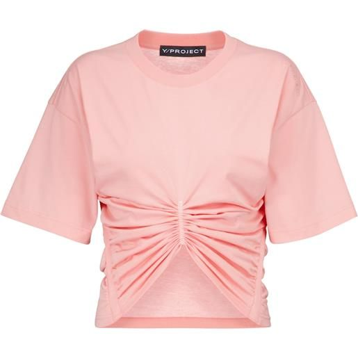 Y/PROJECT t-shirt cropped in cotone