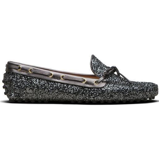Car Shoe mocassini con paillettes - grigio