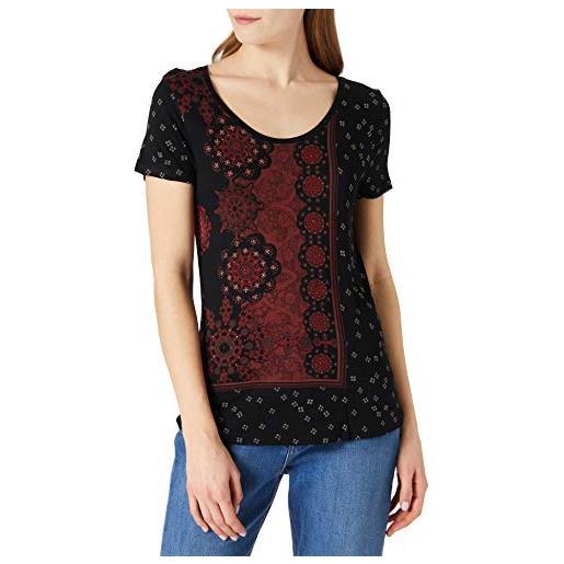 Desigual ts_estambul t-shirt, colore: rosso, xs donna