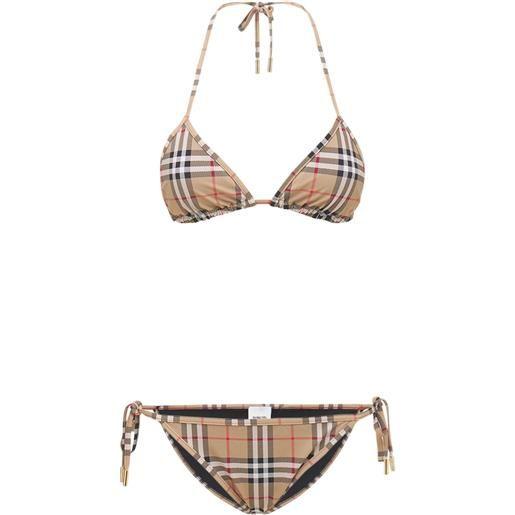 BURBERRY set bikini in lycra stretch