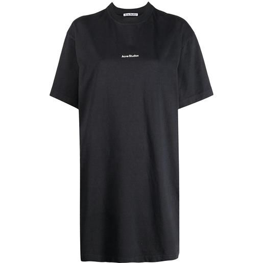 Acne Studios abito modello t-shirt con stampa - grigio