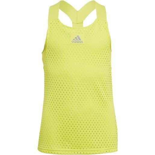 Adidas girls tennis y-tank primeblue heat. Rdy canotta ragazza