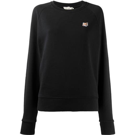 Maison Kitsuné maglione con ricamo - nero