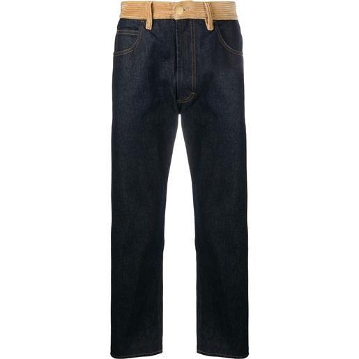 Marni jeans a pannelli - blu