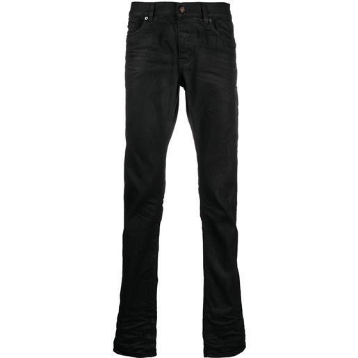 Saint Laurent jeans dritti a vita alta - nero