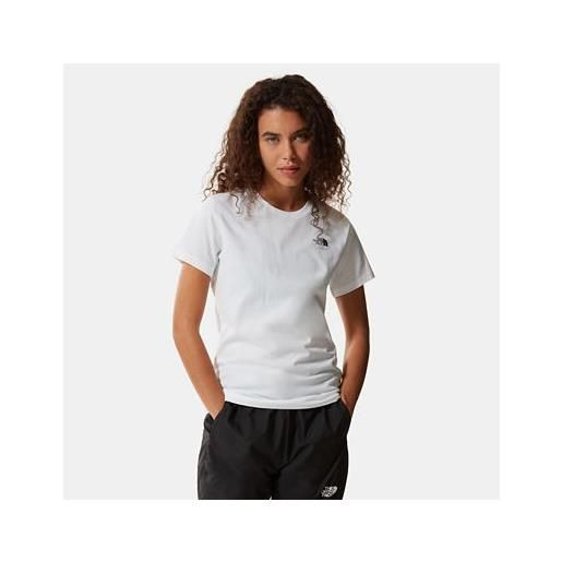 TheNorthFace the north face simple dome t-shirt donna tnf white taglia 3xl donna