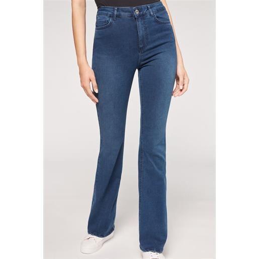 Calzedonia jeans flare blu