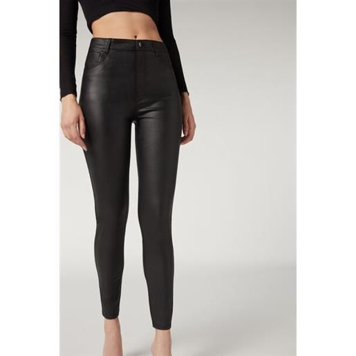 Calzedonia leggings skinny effetto pelle nero