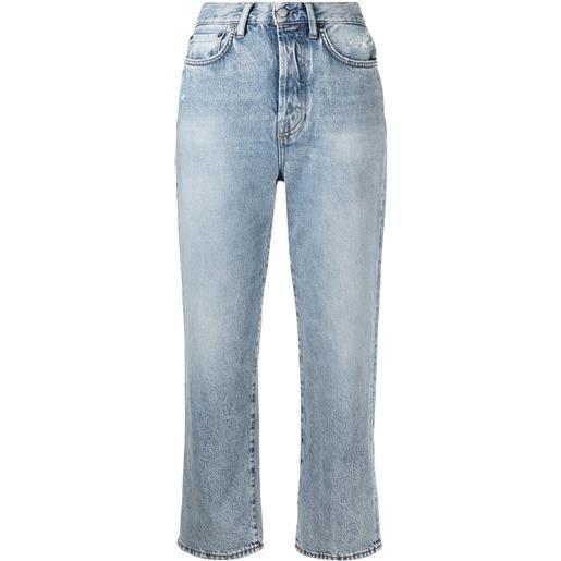 Acne Studios jeans crop taglio straight mece - blu