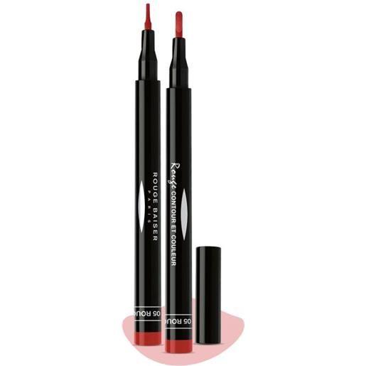 Rouge baiser rouge contour et couleur rouge intense 05