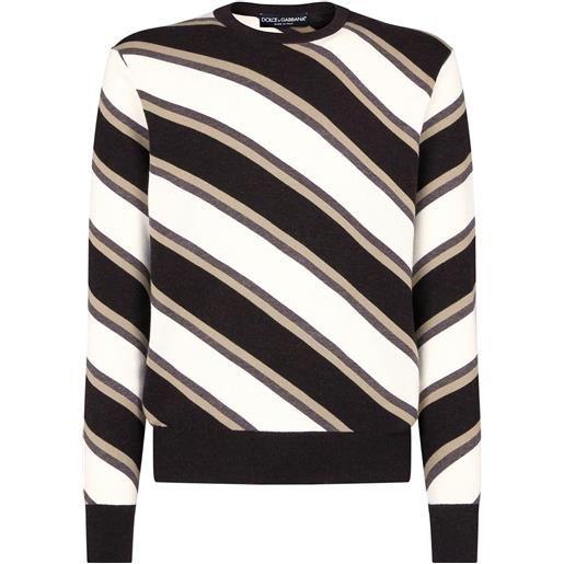 Dolce & Gabbana maglione a righe - bianco