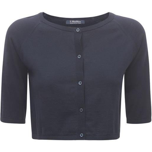 'S MAX MARA cardigan cropped in maglia di cotone