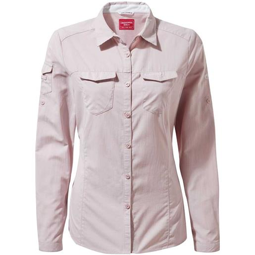 Craghoppers camicia manica lunga nosilife adventure ii 10 brushd lilac