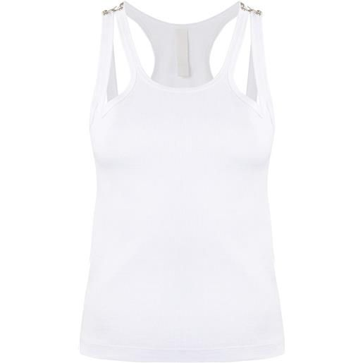 Dion Lee canotta a coste - bianco