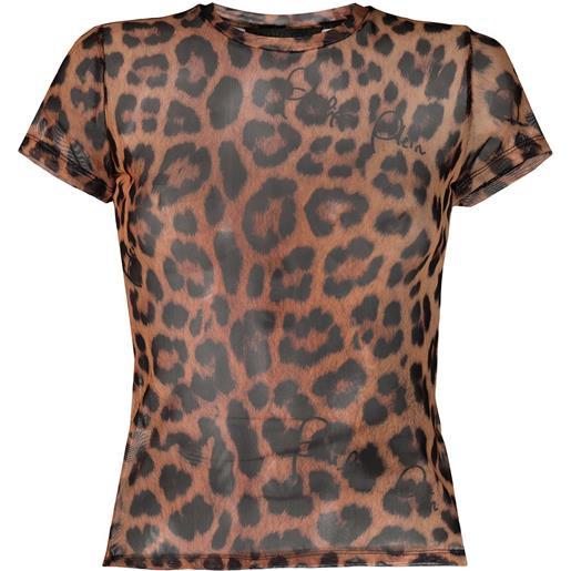 Philipp Plein t-shirt con stampa - marrone