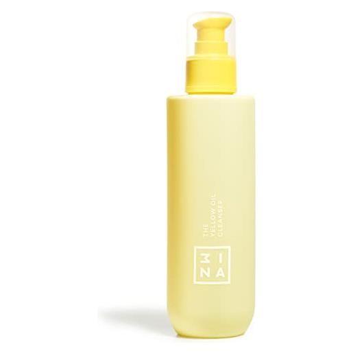 3ina the yellow oil cleanser - olio detergente - struccante viso e occhi - idratante e nutriente - per tutti i tipi di pelle