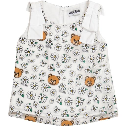 Moschino Kids top a stampa in cotone e tulle