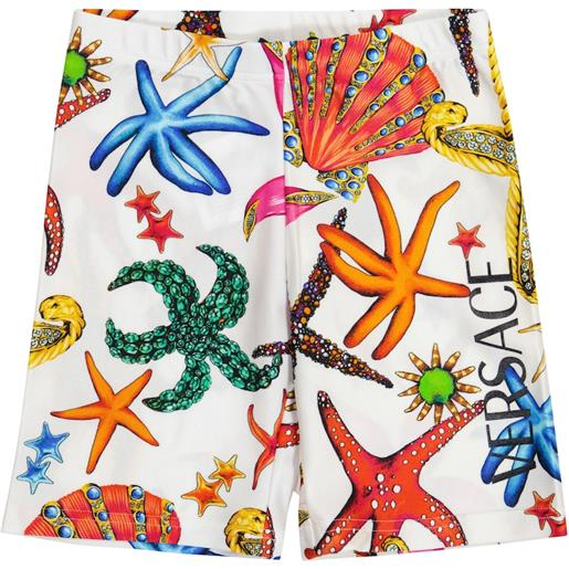 Versace Kids shorts a stampa in jersey stretch