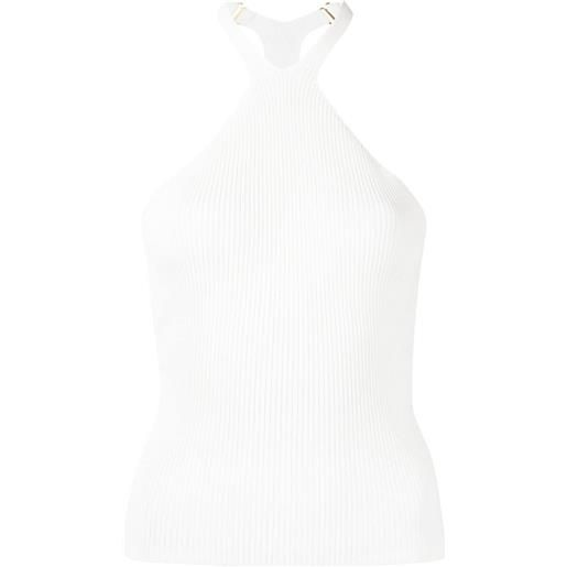Dion Lee canotta a coste lustrate fork - bianco