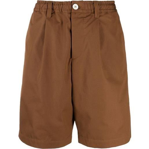 Marni shorts a gamba ampia - marrone