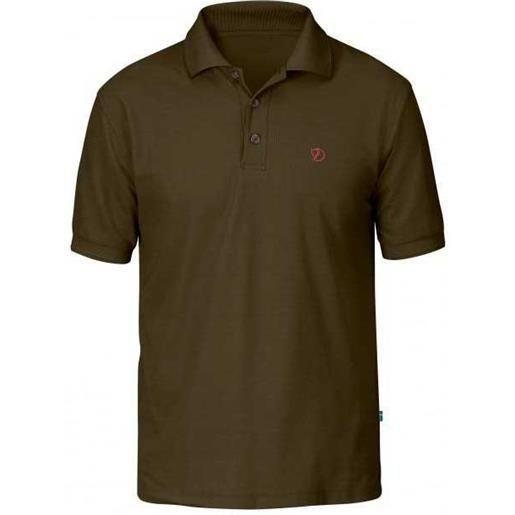 Fjällräven maglietta manica corta crowley pique shirt m dark olive