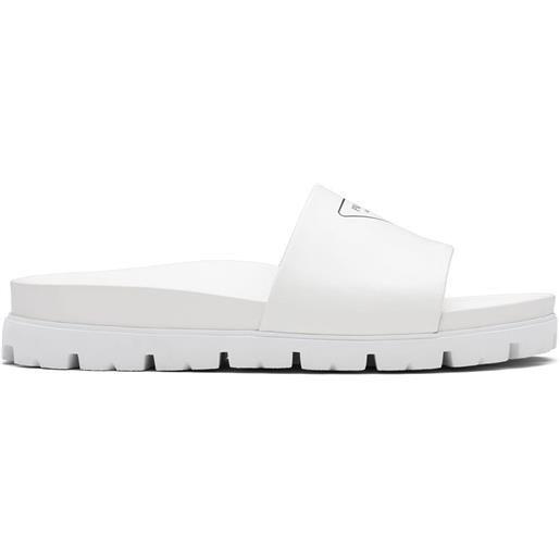 Prada sandali slides con stampa - bianco