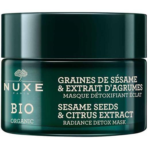 Nuxe bio organic - graines sesame & extrait d'agrumes maschera detox, 50ml