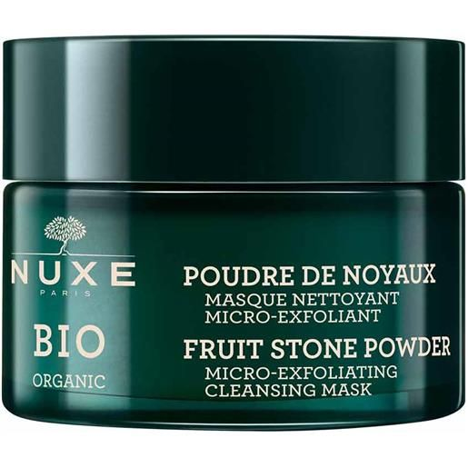 Nuxe bio organic - poudre de noyaux maschera detergente micro-esfoliante, 50ml