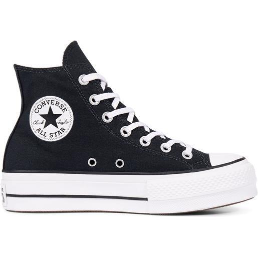 converse all star nere zeppa