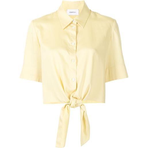 Ports V camicia con stampa - giallo