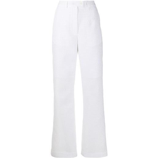 Cecilie Bahnsen pantaloni dritti sonja - bianco