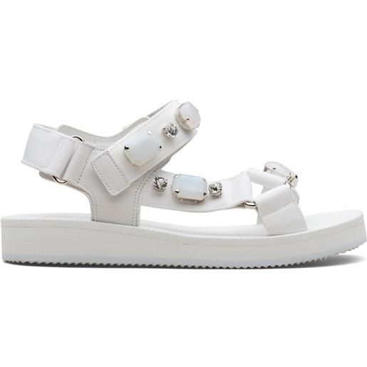 Car Shoe sandali con decorazione - bianco