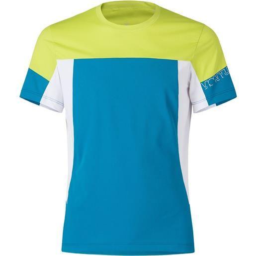 Montura maglietta manica corta outdoor mind s teal blue / lime green