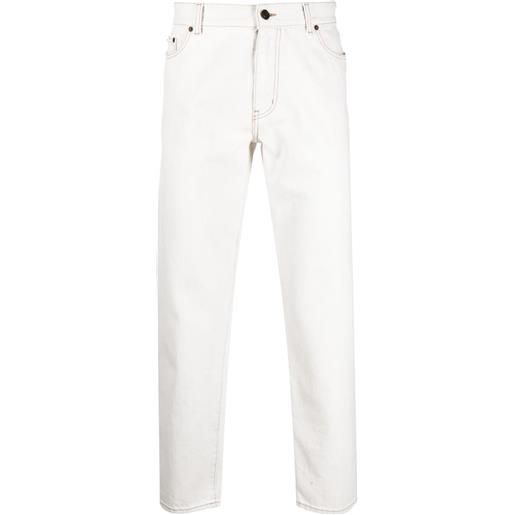 Saint Laurent jeans con effetto schiarito - bianco