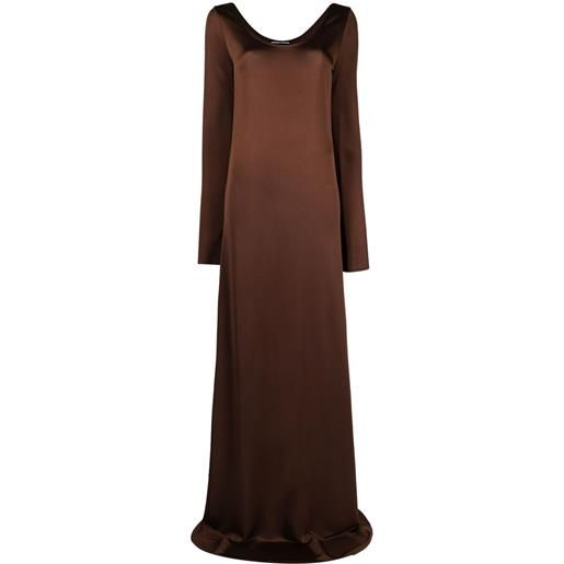 Kwaidan Editions abito lungo svasato - marrone