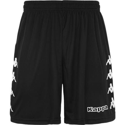 Kappa curchet short 902 black pantaloncino adulto nero