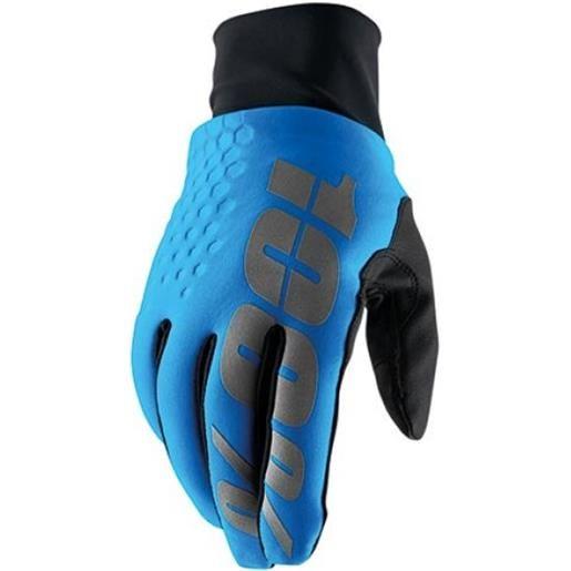 Guanti 100% hydromatic brisker blu (l)
