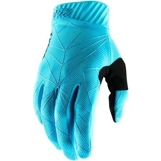 Guanti 100% ridefit ice blue/black (s)