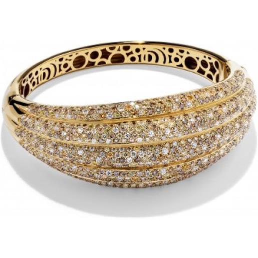 Damiani bracciale in oro giallo e diamanti fancy