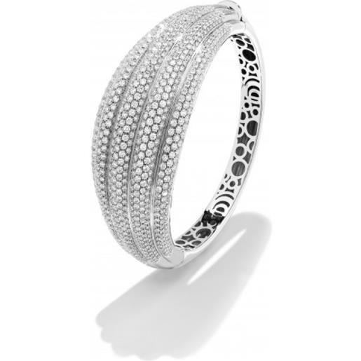 Damiani bracciale in oro bianco e pavé di diamanti