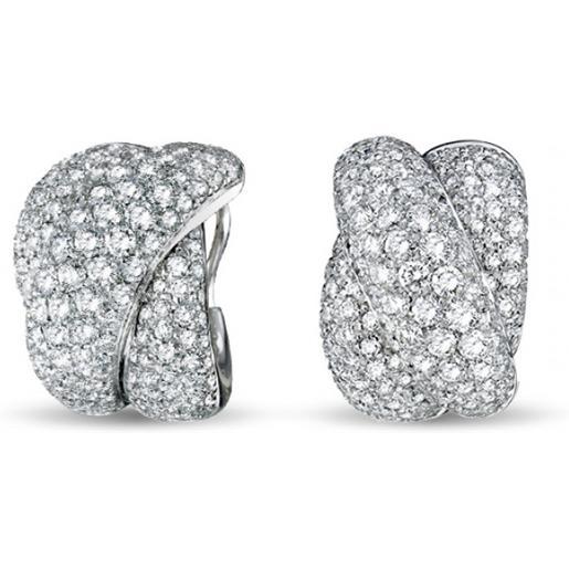 Damiani orecchini in oro bianco e diamanti